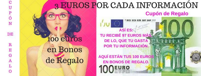 Bono de Regalo Valorado en 100 euros