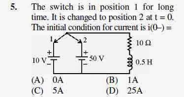 2012 June UGC NET in Electronic Science, Paper III, Question 5