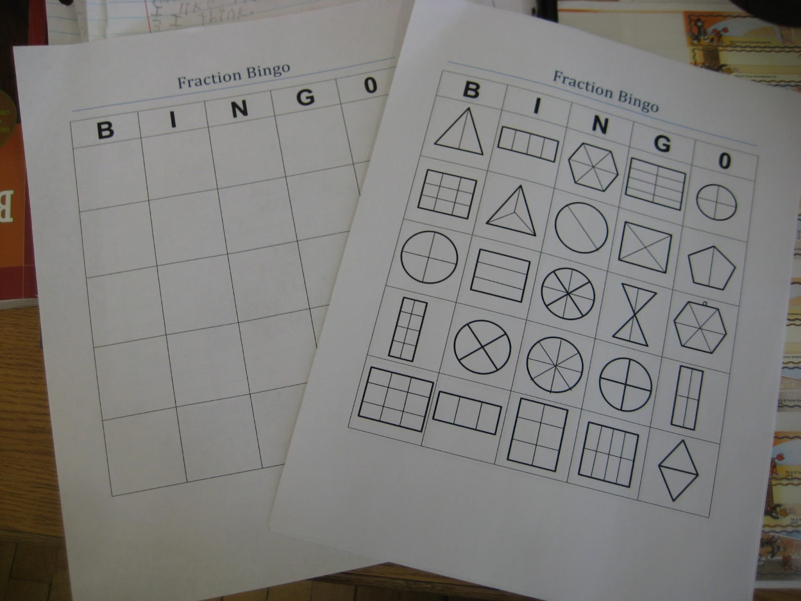 Day's Class Notes: Fraction Bingo