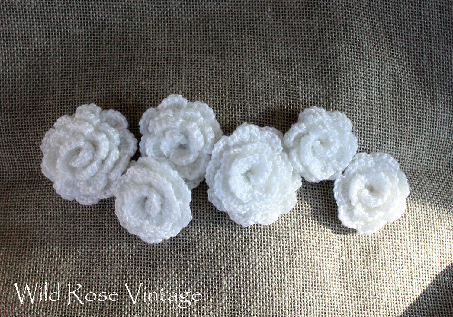 Crochet Pillow : Wild Rose Vintage: Crochet Roses Pillow