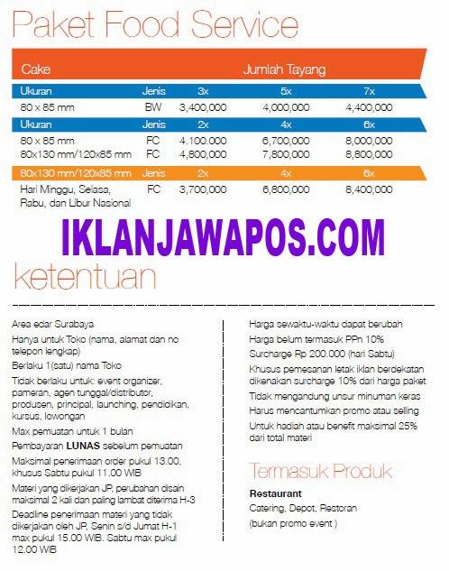 Jawa Pos Iklan Paket Food Service 2014