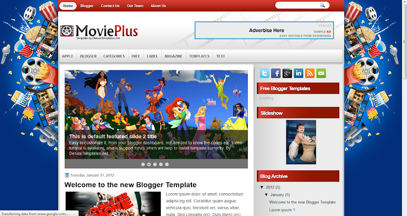 Movie Plus Blogger Template
