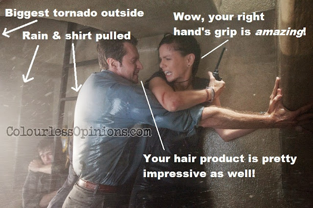 Richard Armitage & Sarah Wayne Callies in Into the Storm movie still meme tornado