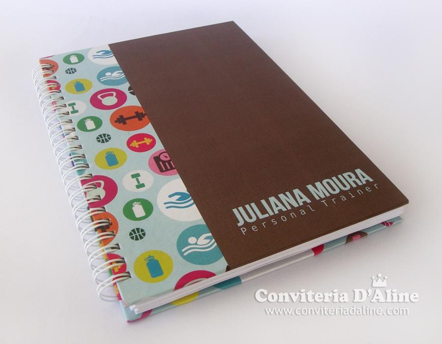 caderno personalizado personal trainer