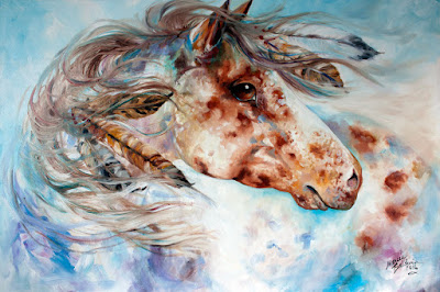 Fresh and New ~ An Appaloosa Indian War Horse ORIGINAL OIL PAINTING ~ For You the collector.  Come see and Purchase at this link. http://www.ebay.com/itm/191783718798?ssPageName=STRK:MESELX:IT&_trksid=p3984.m1555.l2649