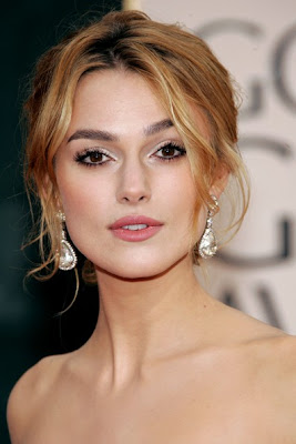 Keira Knightley Dangle Diamond Earrings