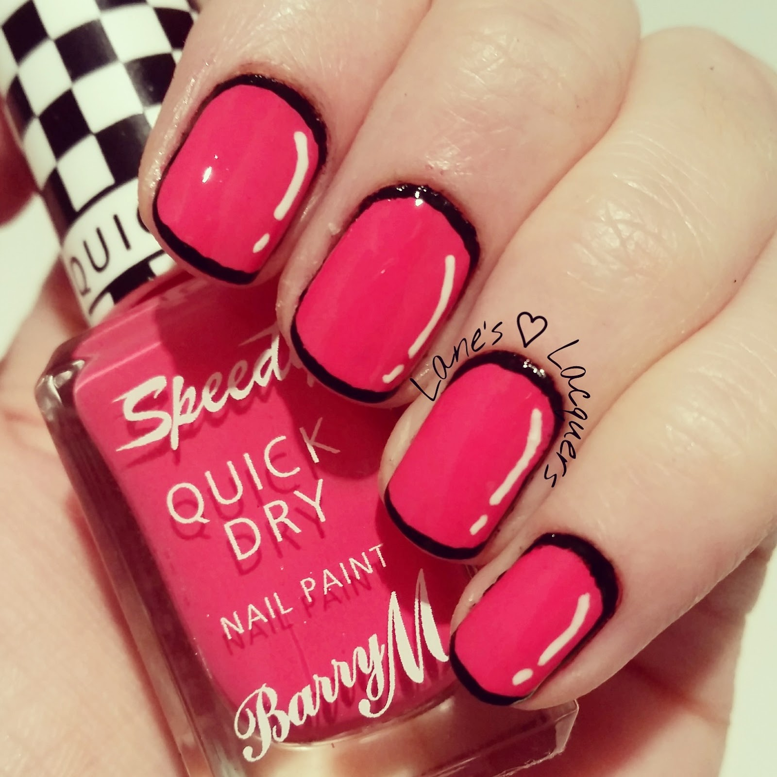 Lanes lacquers 40 great nail art ideas cartoons comics 40 great nail art ideas barry m cartoon prinsesfo Images