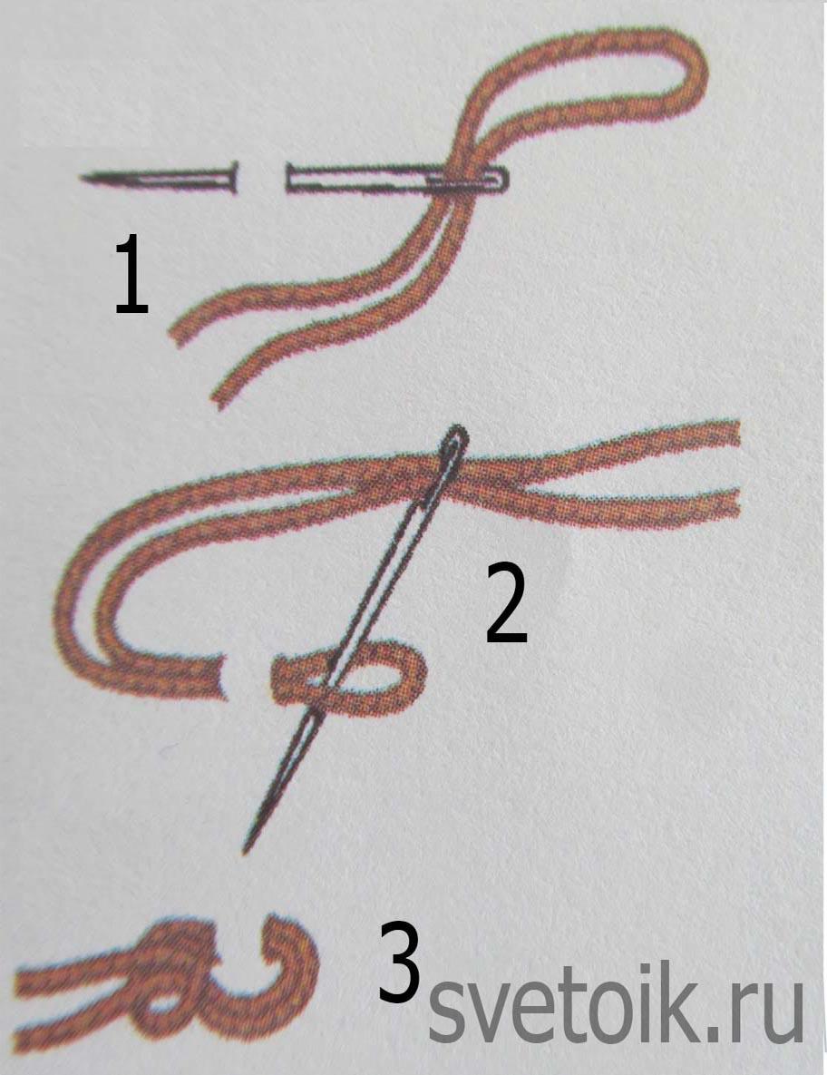 8 способов закрепить нить без узелка при вышивке Рамблер 61