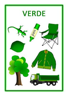 Atividades com Cores - Verde
