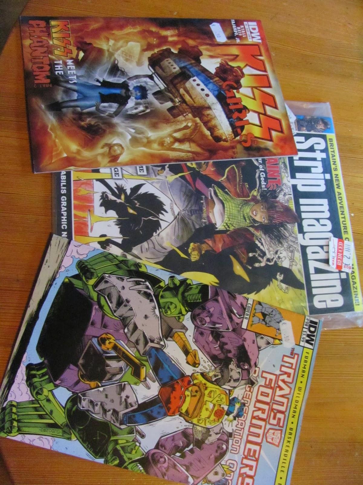 Kiss, Transformers, and Strip Magazine