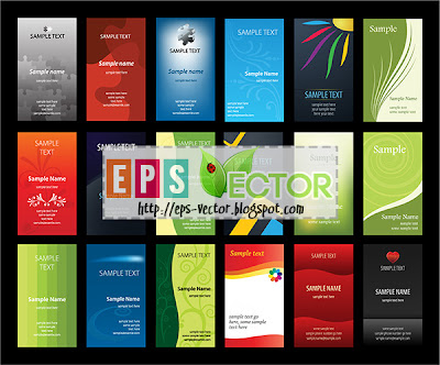 [Vector] - Set of verical business cards
