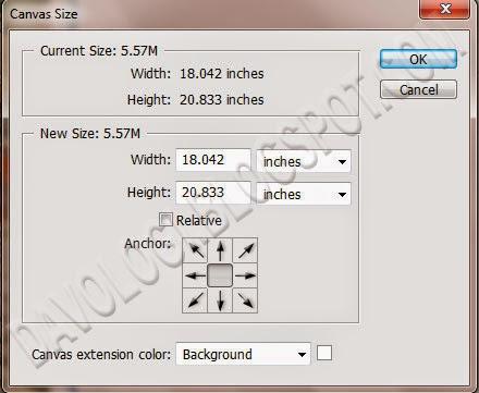 belajar mengubah ukuran gambar canvas size