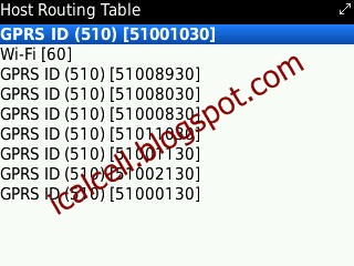 Host Routing Table BlackBerry
