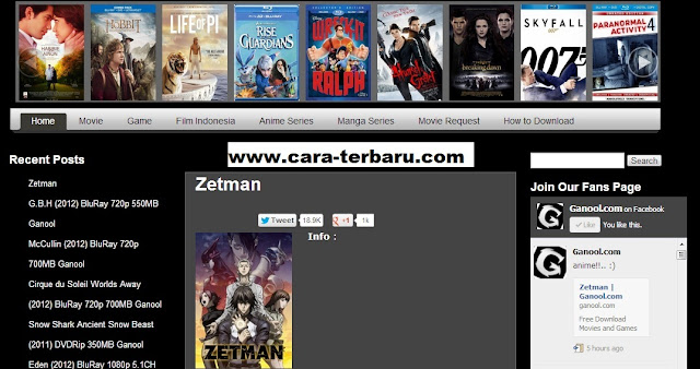 Cara Download Film Di Ganool Dengan IDM
