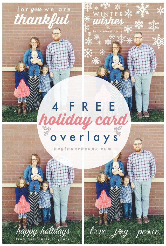 free holiday card overlays