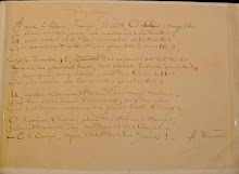 "Manuscrito del poema ""Vocales"" de Rimbaud"