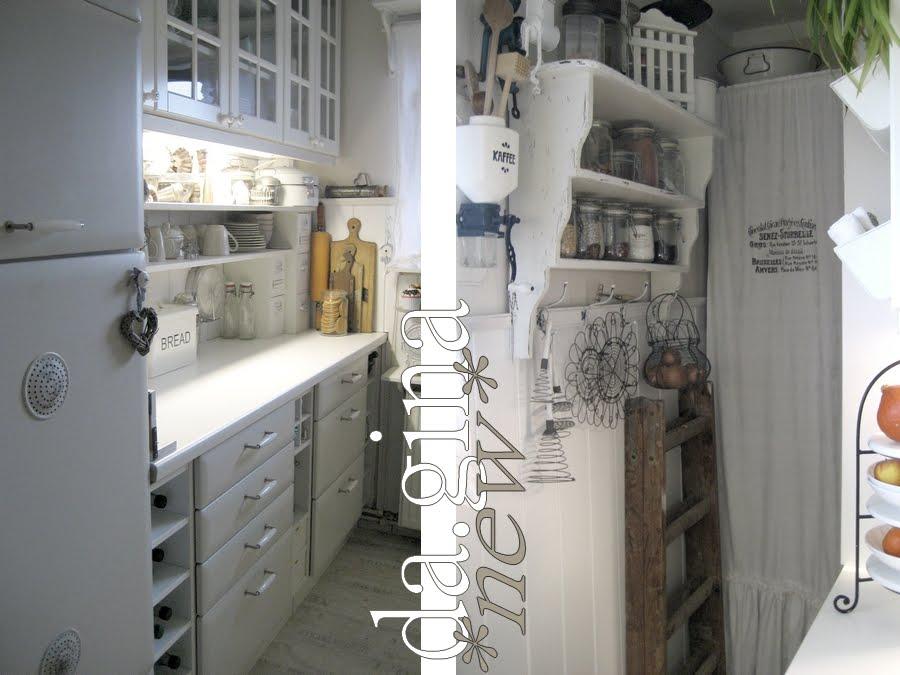 da.gina vintage: ...die Küche.. vorher- nachher...