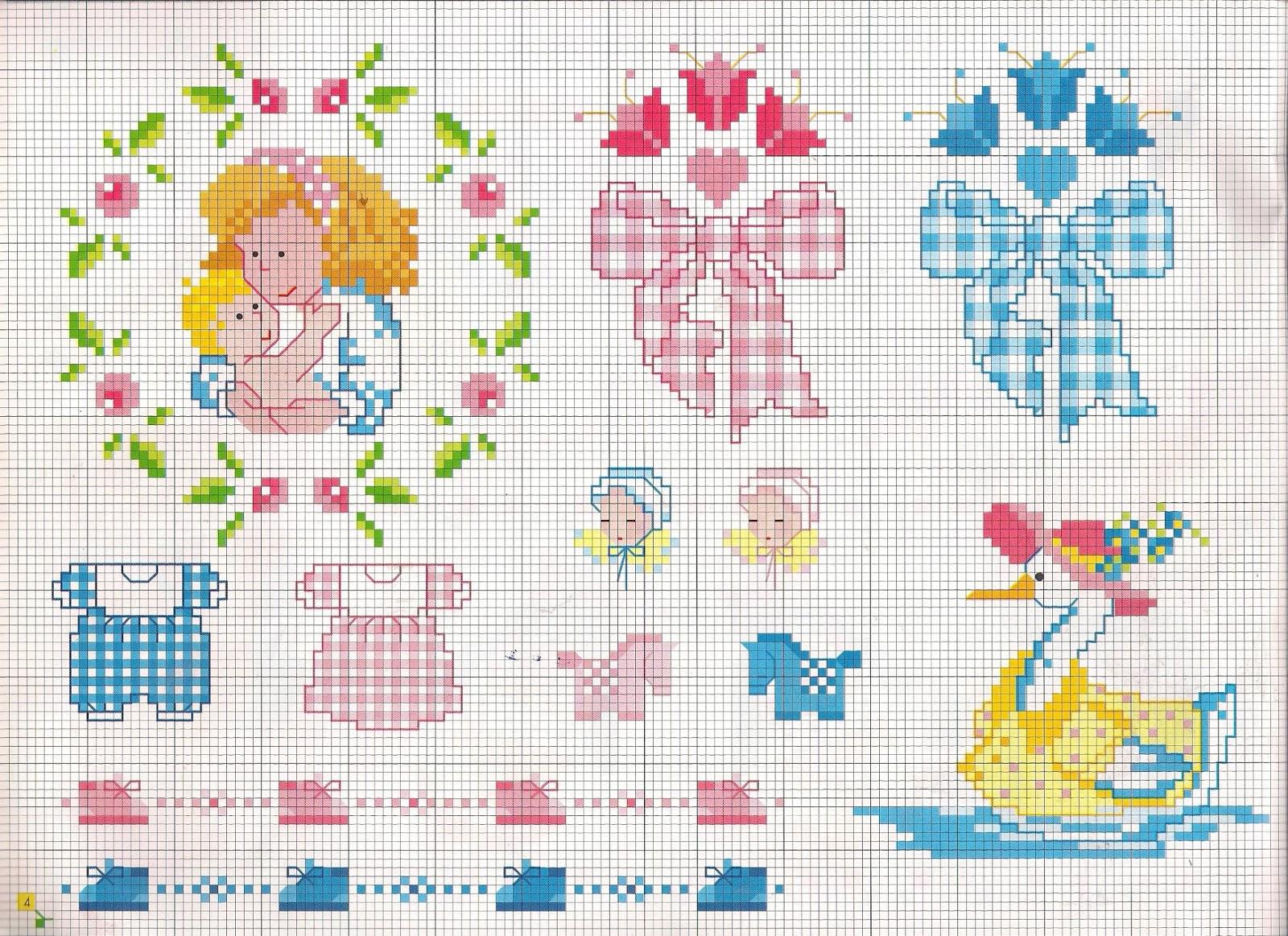 Grande raccolta di Schemi e grafici per Punto croce free: Punto croce schemi facili per bambini