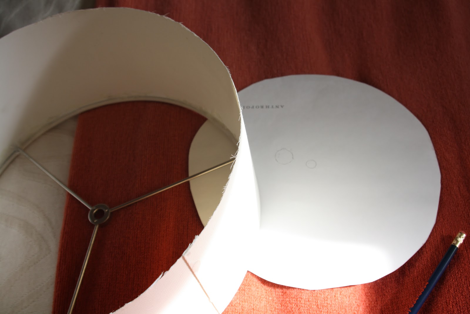 temporary diy diffuser for ceiling fan makeover, tracing holes