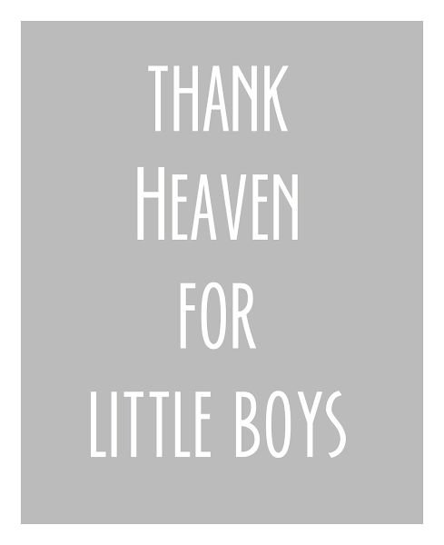 Thank Heaven For Little Boys {Printable} @ Blissful Roots