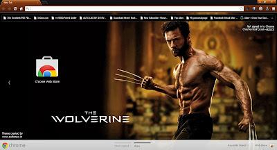 The Wolverine Google Chrome Theme