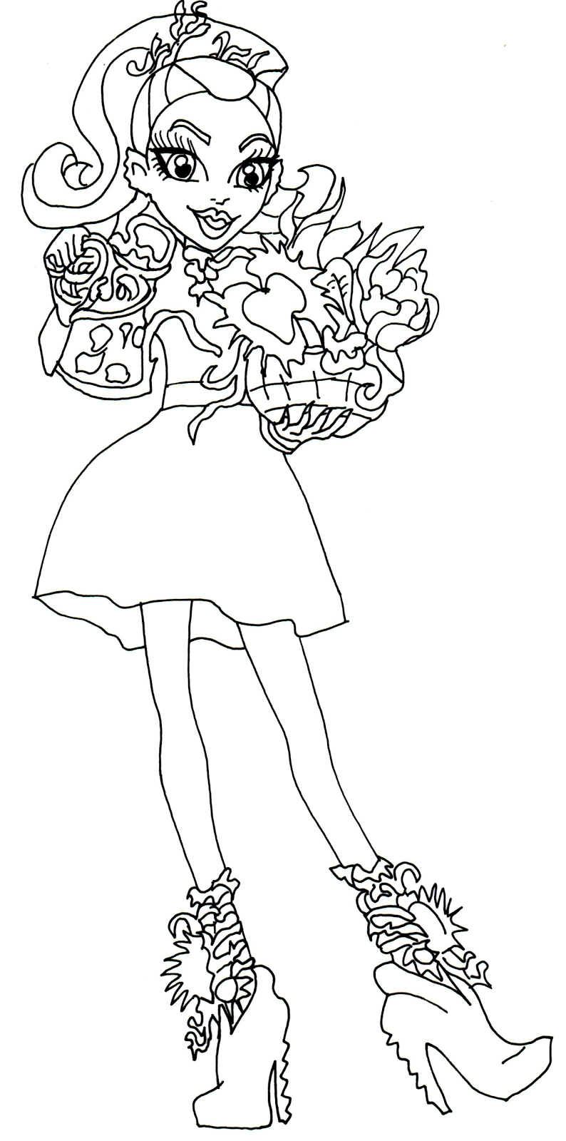 free printable monster high coloring pages venus mcflytrap gloom and bloom monster high