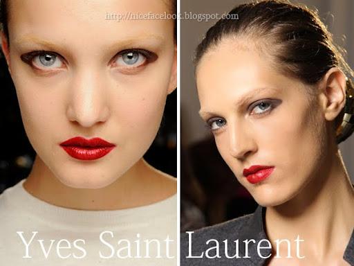 Грим с червено червило Yves Saint Laurent