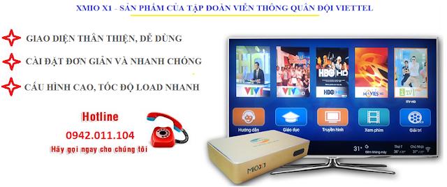 XMio Viettel - Lắp đặt xem tivi và phim HD miễn phí tại Thái Bình