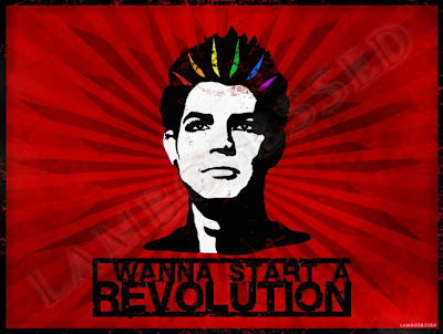 Adam Lambert Rainbow Revolution Pride Flag T-shirt design