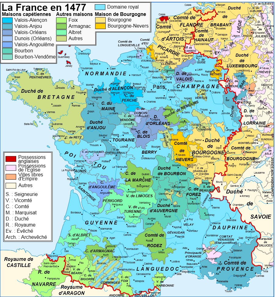 Cinderella and bluebeard map of france 1477 1435 i will try to come up with a better map at some point that shows the provinces as they were at the start of the book gumiabroncs Image collections