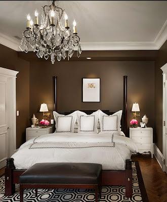 Diseño de dormitorio matrimonial elegante