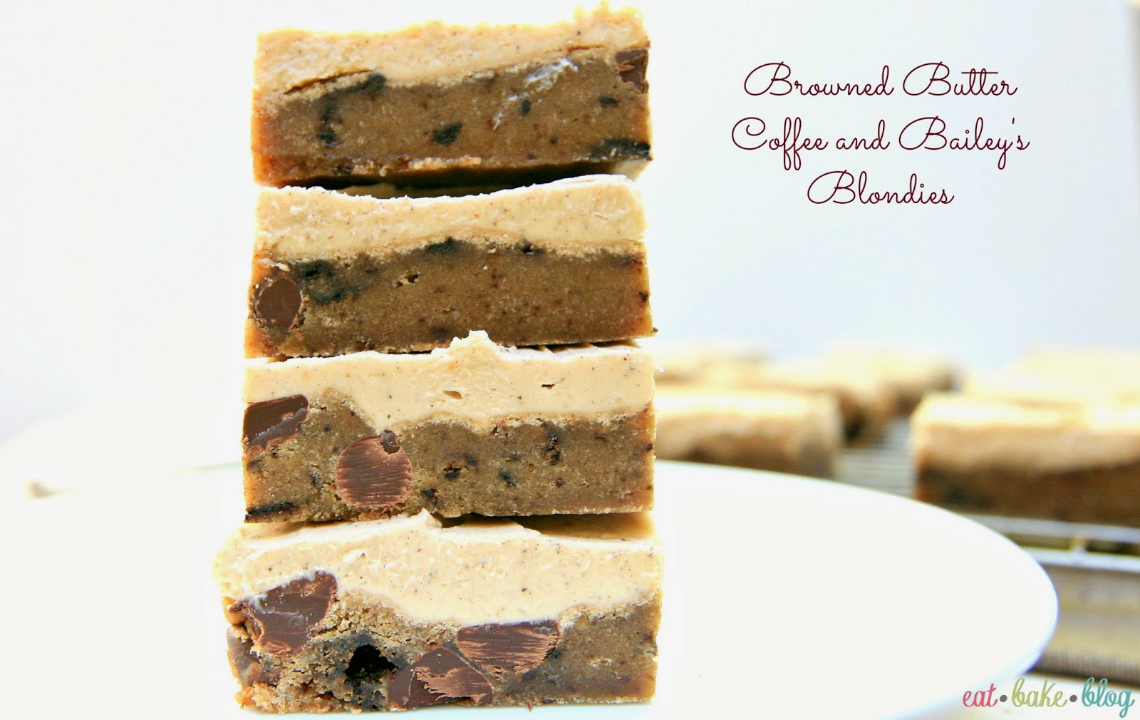 best blondies recipe chocolate chip cookie bars browned butter blondies recipe st. patrick's day dessert recipe