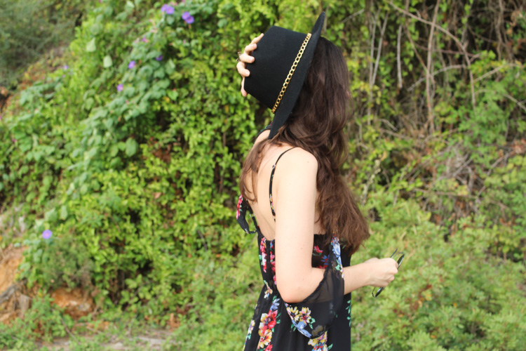 OOTD: Floral maxi dress for fall