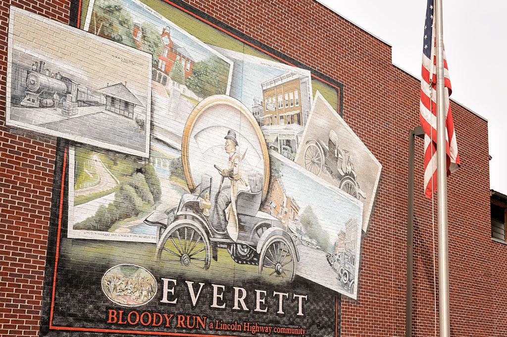 Lincoln Highway Mural, Everett, PA