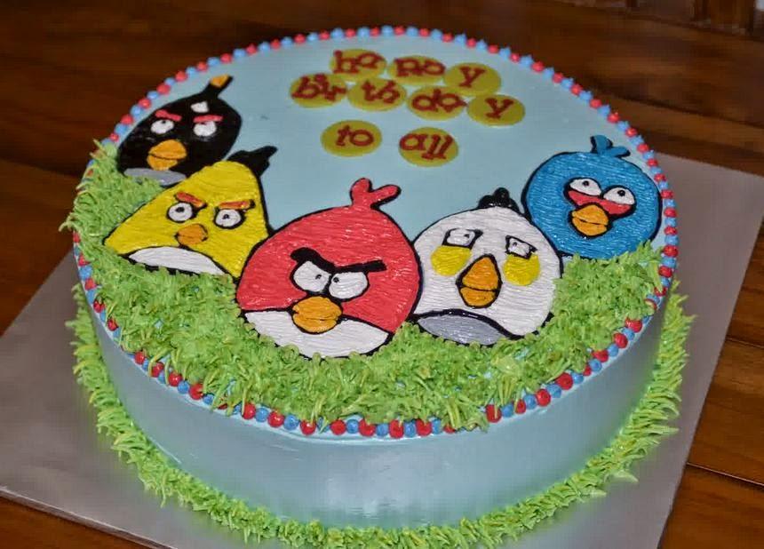 Resep kue ulang tahun angry bird praktis dirumah masakan