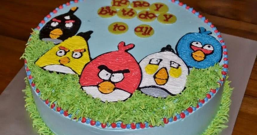 RESEP ASYIK: Resep Kue Ulang Tahun Angry Bird Praktis Dirumah