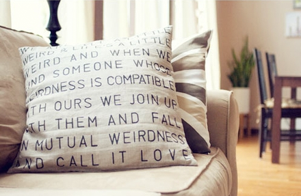 Your favourite quote on a cushion