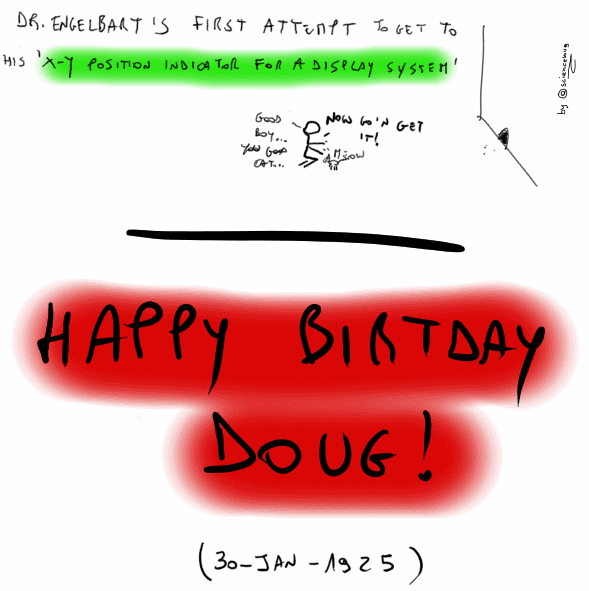 Happy birthday Dr. Engelbart (by sciencemug)