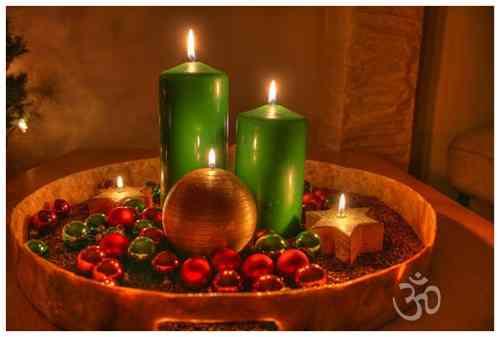 El minihogar - Centros navidenos con velas ...