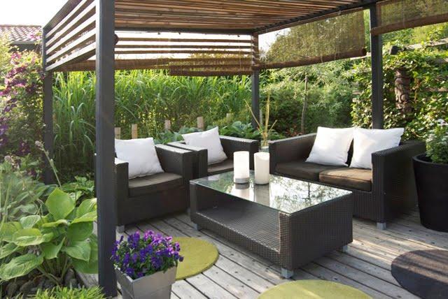 Cattis och Eiras Trädgårdsdesign: Loungen - Före och efter