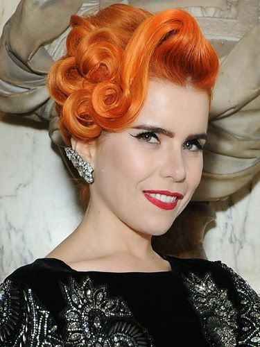 eye-catching orange hairstyles