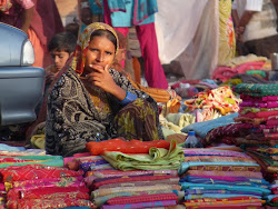 Saree seller in Jodphur