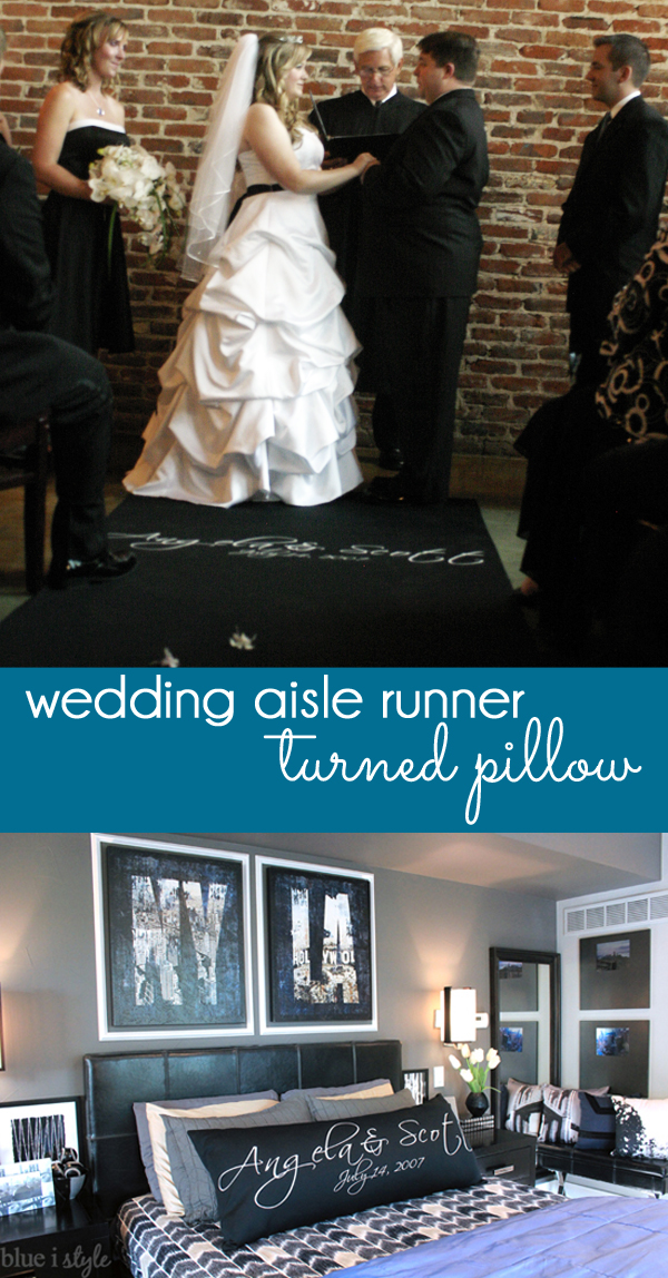 Wedding Aisle Runner Turned Pillow