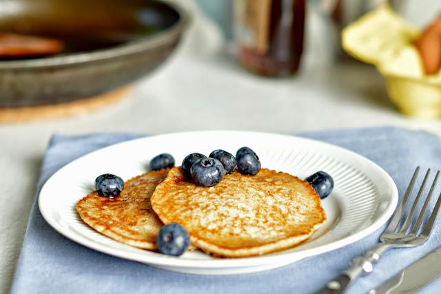 Rezept für Buttermilch-Pfannkuchen mit Vollkornmehl