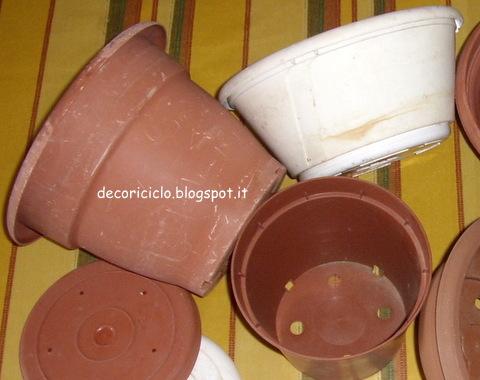 Decoriciclo decorare i vasi per le piante for Vasi rettangolari plastica