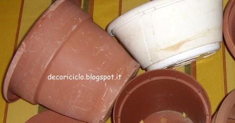 Decorare vasi di plastica per piante