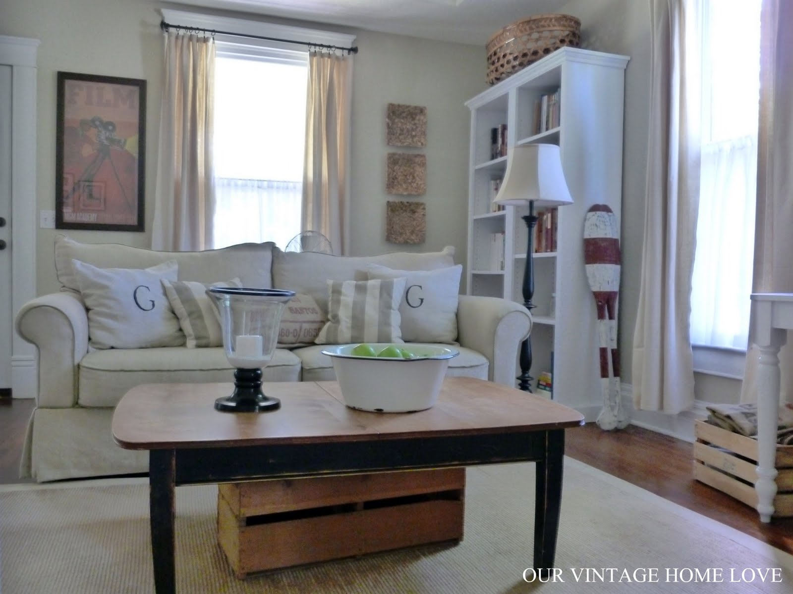 our vintage home love Living Room Ideas and a New Desk