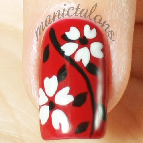Floral Manicure with Akzéntz Gel Play Gel Paints