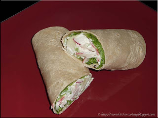 faux crab salad wrap