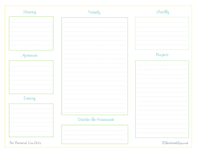 free printable daily weekly monthly home management binder